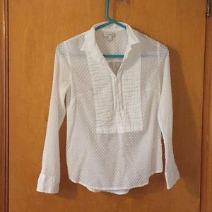 JCrew White Dot Shirt